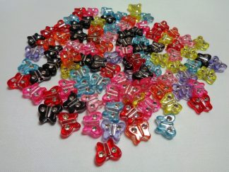 Acrylic Mixed Inlaid Butterfly Beads