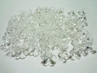 100 x Acrylic Clear Lucite Flowers 7mm x 12mm