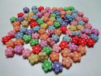 Resin Flower Beads
