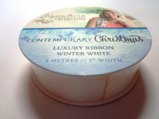 Contemporary Christmas Luxury Ribbon Winter White