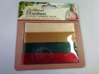 Traditional Christmas Mixed Ribbon Pack