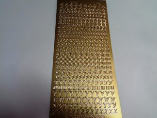 Alphabet Upper Case Gold Peel Off Stickers