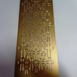 Crosses Gold Peel Off Stickers