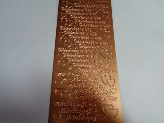Thinking Of You Bronze Peel Off Stickers