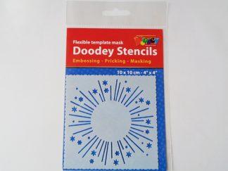 10cms x 10cms Firework Stencil