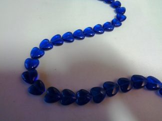 10mm Glass Blue Hearts