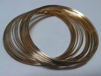 55cm Gold Bracelet Memory Wire