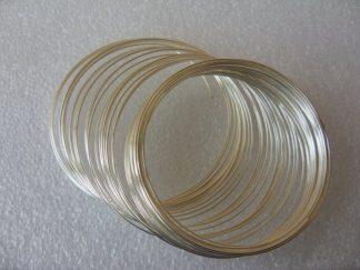 55cm Silver Bracelet Memory Wire
