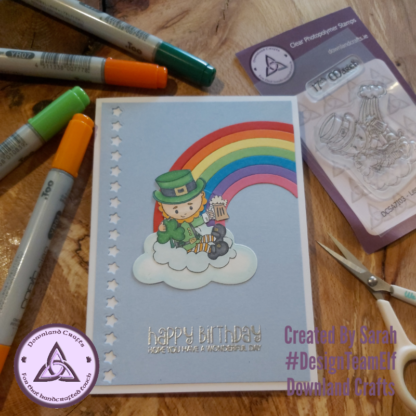 Leprechaun Rainbow Stamp Card Sample