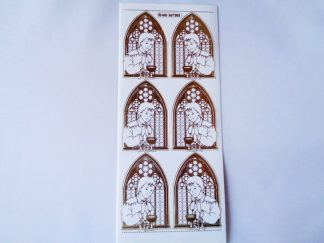 Communion Boy White Gold Peel Off Sticker Sheet