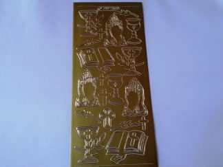 Church Service Gold Peel Off Sticker Sheet