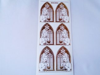 Communion Girl White Gold Peel Off Sticker Sheet