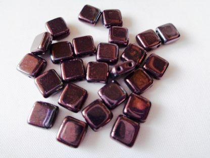 6mm 2-Hole Czechmates Tile Beads Navy Vega