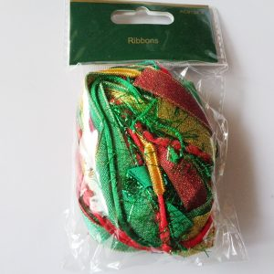 Red, Gold & Green Mixed Ribbon Pack approx 10 metres