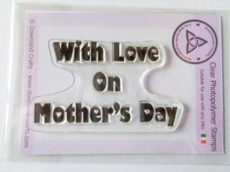 A7 Clear Photopolymer With Love On Mother's Day Stamp