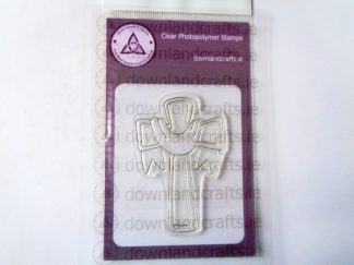 A7 Clear Photopolymer Draped Cross Stamp