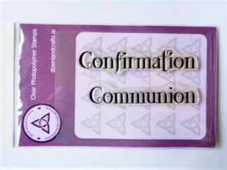 A7 Clear Photopolymer Confirmation and Communion Words Stamp Set