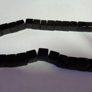 6mm Black Glass Cubes