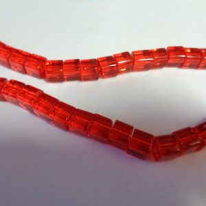 6mm Red Glass Cubes