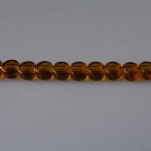6mm Amber Brown Glass Coins