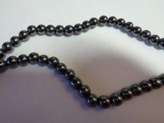 6mm Hematite Round Beads