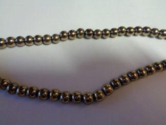 6mm Olive Hematite Round Beads