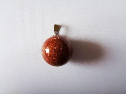 Gold Sandstone Round Ball Pendant