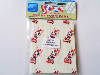 12mm x 6mm x 2mm White 3D Foam Pads