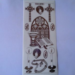 Religious Occasions Transparent Silver Peel Off Sticker Sheet