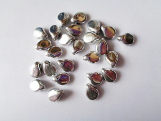 Pack of 25 5mm x 7mm Czech Pip Pressed Glass Beads Jet Labrador