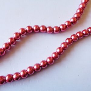 6mm Glass Pearls Heather (80cm strand approx 154 beads)