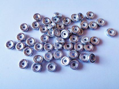 Pack of 50 6mm Wheel Chalk Czech Glass Beads Full Labrador