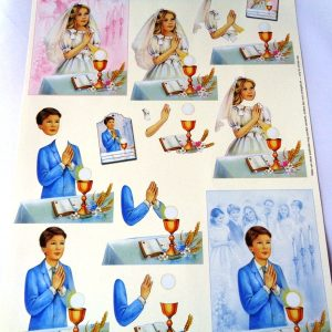 A4 Decoupage Sheet (Non Die Cut) First Communion