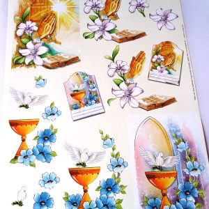A4 Decoupage Sheet (Non Die Cut) Praying Hands