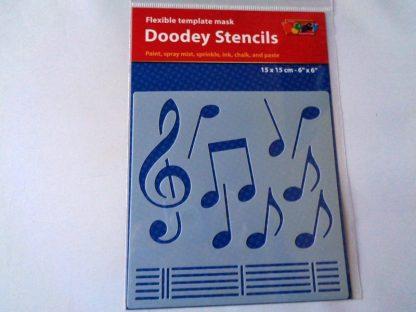 Stencil 15 cm x 15 cm Music Notes