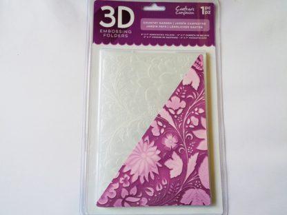 "5"" x 7"" 3D Embossing Folder Country Garden"