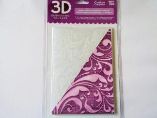 """5"""" x 7"""" 3D Embossing Folder Regency Swirls"""