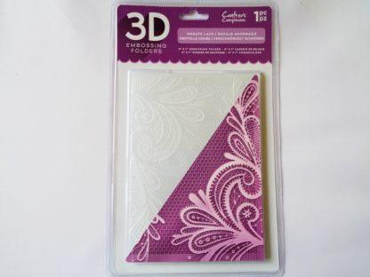"5"" x 7"" 3D Embossing Folder Ornate Lace"