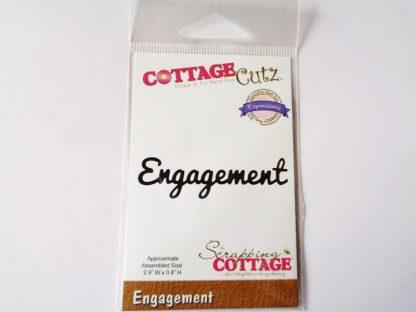 Scrapping Cottage CottageCutz Die Engagement Word
