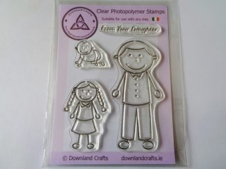 A6 Clear Photopolymer From Your Daughter Stamp Set