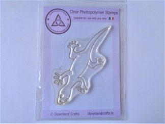 George The Gecko Stamp - A7 Clear Photopolymer