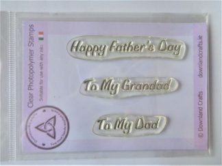 Happy Father's Day Stamp Set - A7 Clear Photopolymer