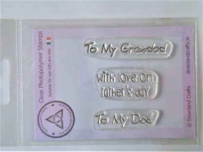 With Love on Father's Day Stamp Set - A7 Clear Photopolymer