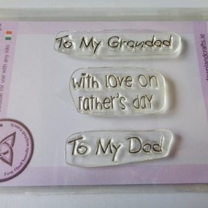 A7 Clear Photopolymer With Love on Father's Day Words Stamp Set
