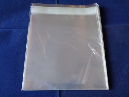 "Pack of 50 Cellophane Bags 5"" Square Self Seal"