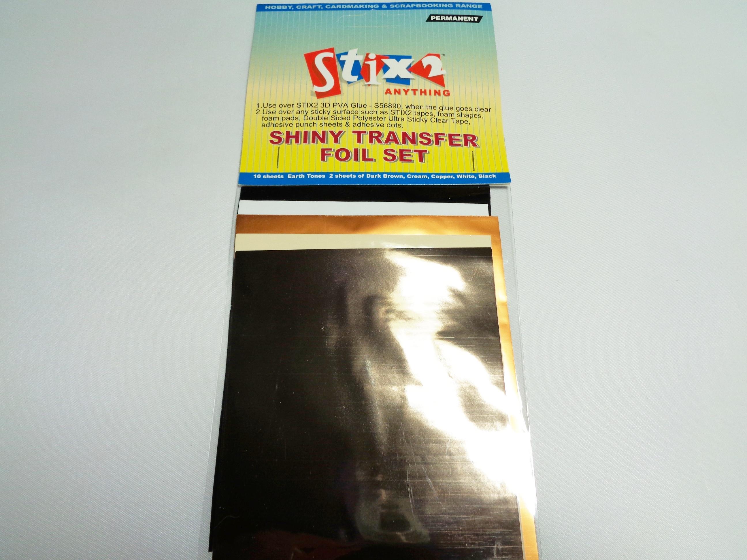 Shiny Transfer Foils -Celebration Scrapbooking Stix2 Craft cardmaking Hobby