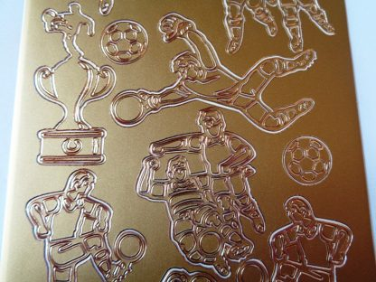 Football/Soccer Peel Off Stickers Gold