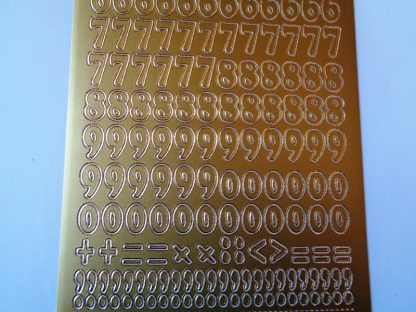 Chunky Numbers Peel Off Stickers Gold
