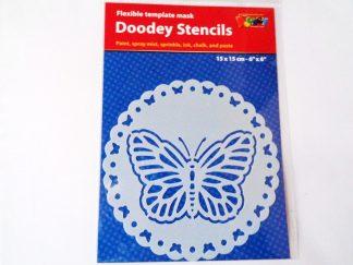 Stencil 15 cm x 15 cm Butterfly Doily