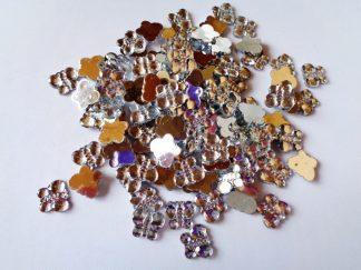100 x 10mm x 8mm Acrylic Butterflies Silver